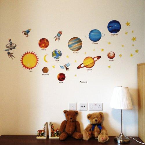 Wandsticker Wandtattoo Planeten Sterne Kinderzimmer Wanddeko | eBay