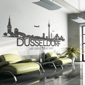 Düsseldorf Wandtattoo Skyline Silhouette Wand Aufkleber Sticker