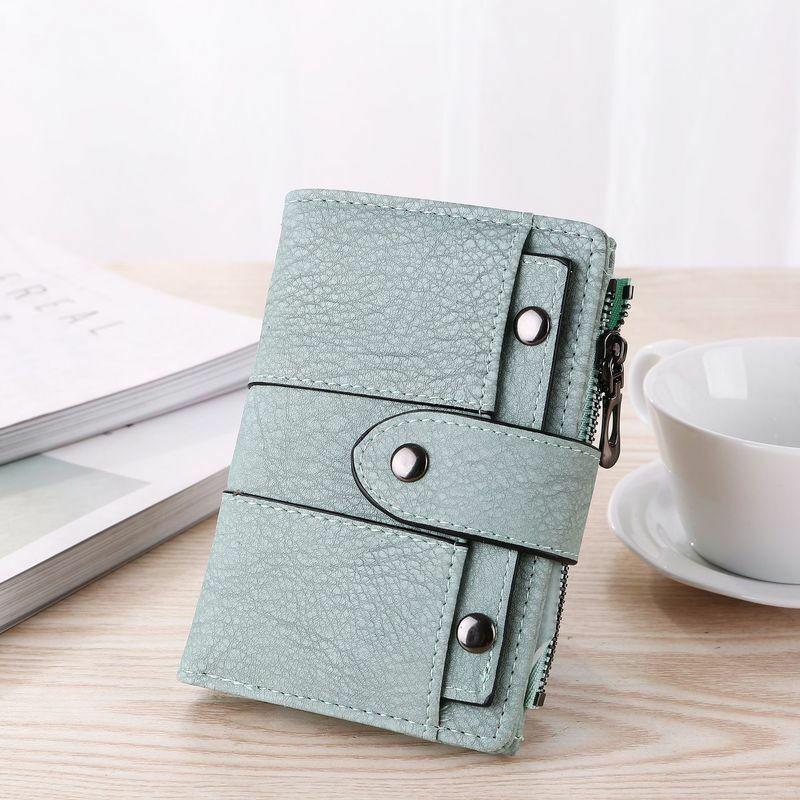 Top Women Wallet Nouveau Porte-cartes de crédit et porte-documents en cuir zippé
