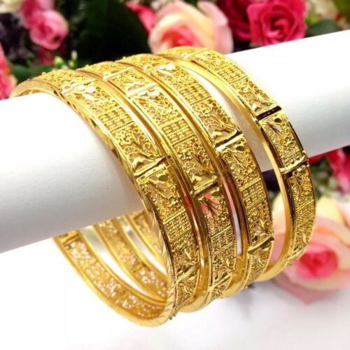Indian 22ct Gold Plated Bangles Size:2.8 Bollywood Bridal Wedding Jewellery