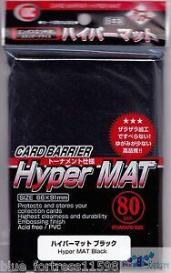 MAT MTG Magic Gathering Pokemon 5x KMC Hyper Matte Black Sleeves 80 Count