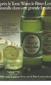 PUBLICITE-1973-FINLEY-BITTER-LEMON-amp-TONIC-WATER-concessionaire-de-CoCa-CoLA