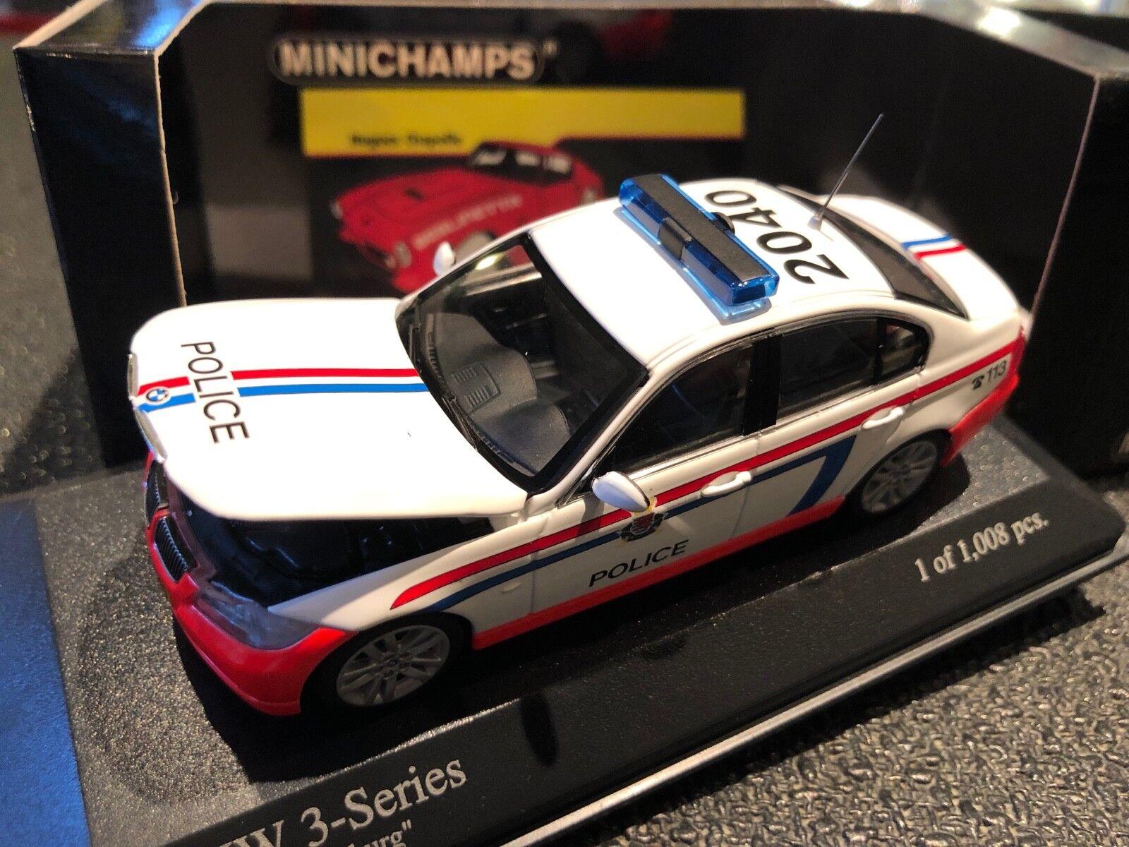 Minichamps 431 024190 3er bmw 2005 polizei luxemburg polizei 1   43 neue boxen