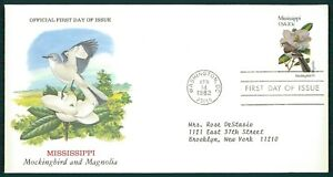 États-unis Fdc 1982 Oiseaux & Plantes Mississippi Oiseau Birds Bird Plant Oiesaux Cl87-afficher Le Titre D'origine Conduire Un Commerce Rugissant