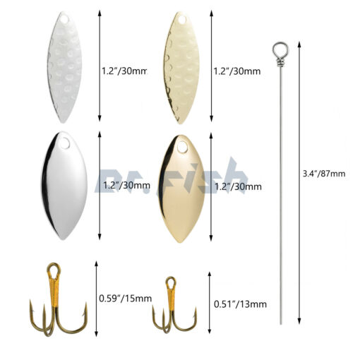 Details about  /Spinner//Walleye Rig//Pompano Rig//Tail Spinner Making Kit DIY Spinnerbait Accesory