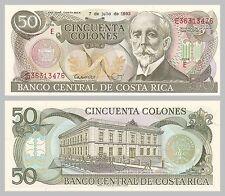 Costa Rica 50 Colones 07.07.1993 p257a unz