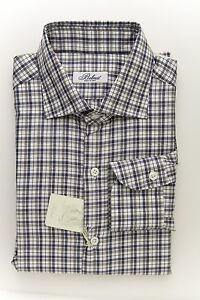 BELVEST-by-Finamore-Napoli-Shirt-Cotton-Twill-Checks-Blue-Gray-15-1-2-39-Reg