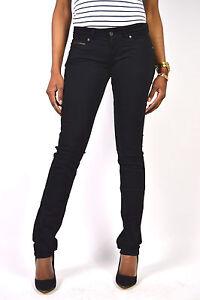 Pepe-Jeans-Nueva-Brooke-T41-Pantalon-de-Tela-Tubo-Negras-Talla-25-27-29-30-31