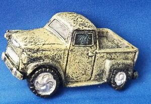Gray Vintage PICKUP Truck Car - VEHICLE Resin Refrigerator MAGNET Sale