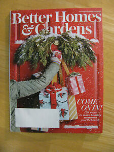 Better Homes Gardens Magazine December 2019 New Free Shipping