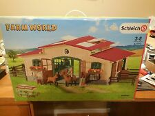 NEW Schleich Farm World Horse Stable Barn w/ Accessories # 42195