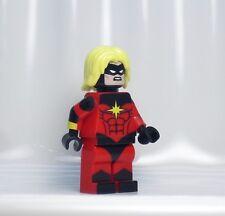 A861 Lego CUSTOM PRINTED Marvel superhero INSPIRED CAPTAIN MAR-VELL MINIFIG