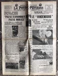 N44-La-Une-Du-Journal-Le-Petit-Parisien-8-Mai-1937