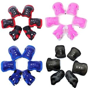 Kids and Teens Elbow Knee Wrist Protective Guard Safety Gear Pads bara @xx ql +