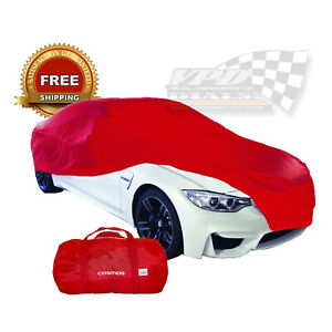 Cosmos-Indoor-Car-Garage-Cover-LARGE-Red-Supersoft-Breathable-Dustproof-Fabric