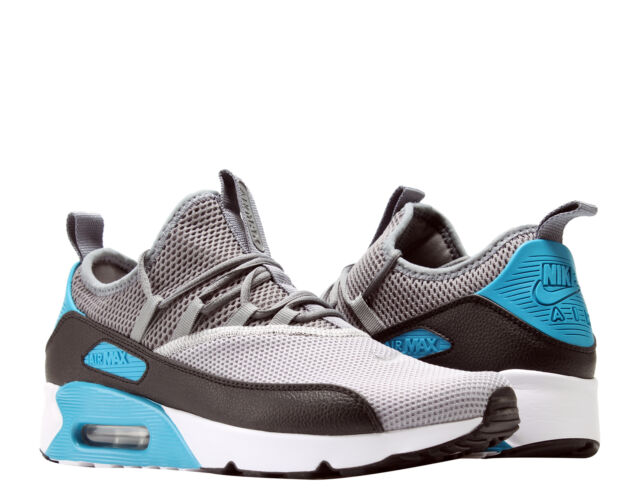 newest collection 4414d 986d5 Nike Air Max 90 EZ Grey Black-Laser Blue Men s Running Shoes AO1745-