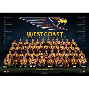 AFL-2017-Team-West-Coast-Eagles-POSTER-60x80cm-NEW-Aussie-Football-Players