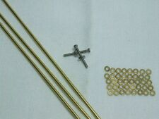 10 Straight Razor Set Brass Washers and Brass Rod Pins