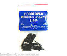 HOROLOVAR LARGE STEEL CLOCK TAPER PINS 25mm Long x 1.14mm - 1.91mm