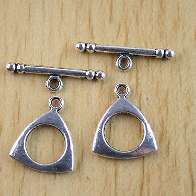 8sets tibetan silver diamond toggle clasps h1538