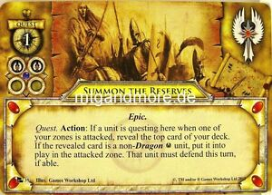Warhammer-Invasion-2x-Summon-the-Reserves-039-Fragments-of-Power