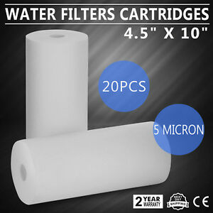 """20 Pack Sediment Whole House Water Filters (5 Micron) 4.5"""" x 10"""" Cartridges"""
