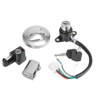 Ignition Switch Fuel Gas Cap Helmet Seat Lock Key Set For Honda Rebel 250 CMX250
