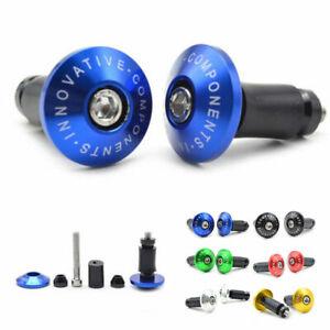 1-Pair-Bike-Bicycle-Aluminum-Handlebar-Grips-Cap-Plug-Handle-Bar-Caps-End