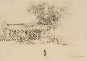 C-VOSS-1856-Antica-Osteria-della-Garbatella-in-Rom-1888-Zeichnung