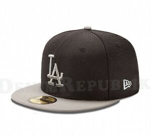 New Era 5950 LOS ANGELES DODGERS LA MLB Baseball Cap Black New Era ... 03496312ad6