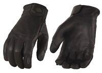 Men's Premium Leather Gloves W/ Led Finger Lights W/ Touch Screen Fingers