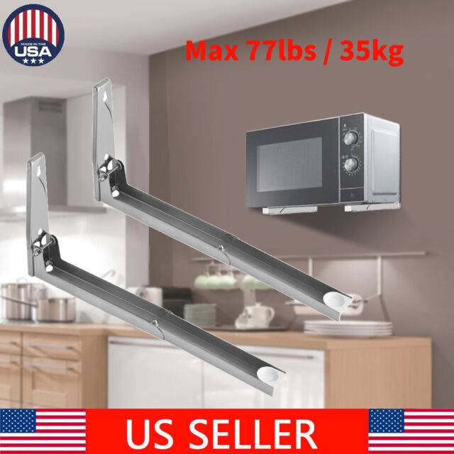 """23"""" Microwave Oven Rack Shelf Bracket Stand Stainless Steel Wall Mounted Kitchen"""