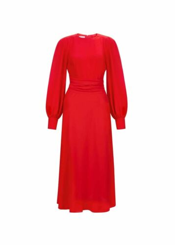 Hobbs Ruby Fit /& Flare Dress Red Size UK8 RRP199