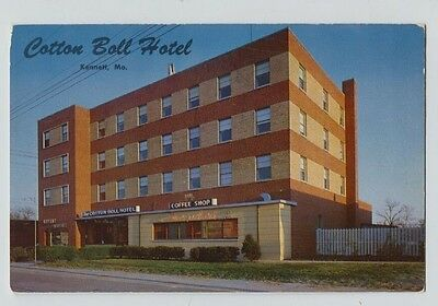 Vintage Kennett Mo Missouri Cotton Boll Hotel Postcard