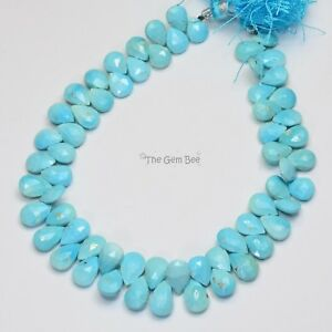 Faceted Beads Sleeping Beauty Turquoise Faceted Drop Beads Sleeping Beauty Turquoise Beads Turquoise Tear Drop Beads Wholesale Beads