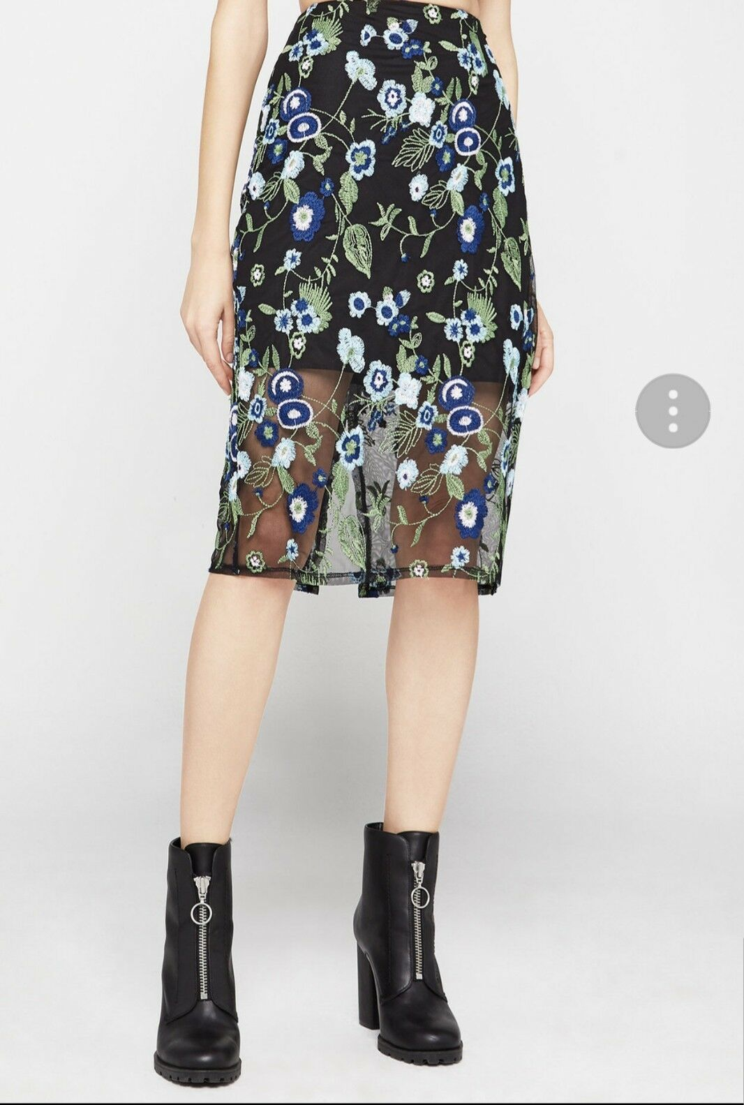 NWT BCBGENERATION Floral Embroidered Skirt