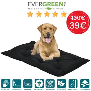 Evergreenweb Matelas Multi-Usage Pour Animaux Hauts 8 Cm Lavable Noir