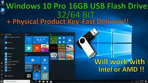 Microsoft-Windows-10-Pro-Home-16GB-USB-Flash-Drive-Activation-Key-32-64-Bit