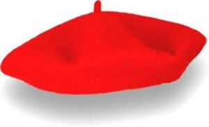 d81873a0124ab Red Felt French Beret Hat Allo Allo France Fancy Dress Adult NEW ...