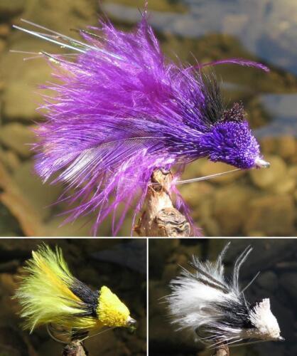 GILCHRIST FLIEGEN.Fliegenfischen.Diving Minnow Streamer 3 Stück einer Farbe.