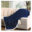 Soft-Plush-Reversible-Corduroy-Textured-Sherpa-Lined-Throw-Blanket-50-034-x-60-034 thumbnail 8