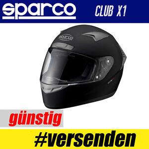 Sparco-Karthelm-Club-X1-SCHWARZ-Integralhelm-mit-Belueftungssystem-Helm-Helme