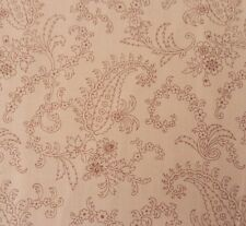 Civil War Faye Burgos for Marcus Brothers BTY Brown on Light Tan Paisley Floral