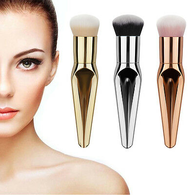Fish Tail Makeup Brushes Kabuki Contour Face Blush Brush Powder Foundation Tool