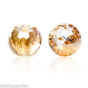90-Glas-Perlen-Rund-Champagner-Transparent-Facettiert-Beads-zum-Basteln-8mm-L-P