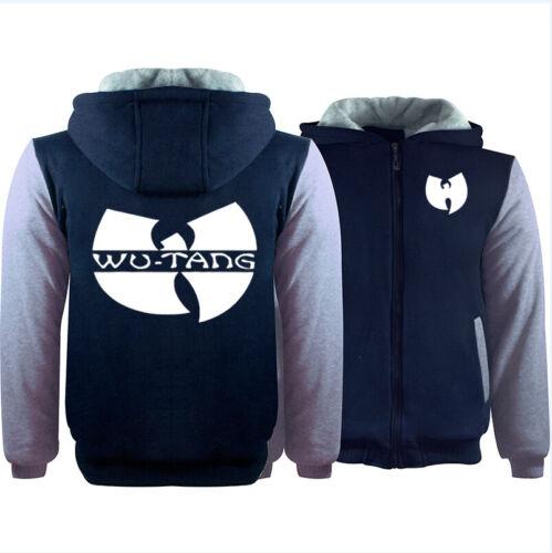 Wu Tang Print Thicken Hoodie Unisex Zipper Jacket Sweatshirts Winter Warm Coat