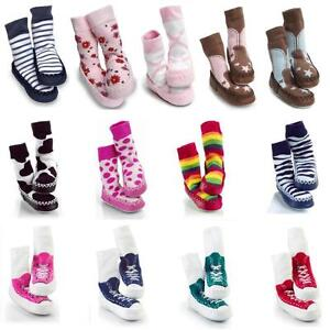 a91ca8efb09a Mocc Ons Baby Slipper Socks Toddler Moccasin Shoes 6 months to 3 ...