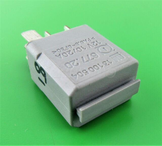 09-Saab 9-3 9-5 (5-Pin) Multi Use Silver-Grey Relay 13100504 12V 10/ 20A 677.20