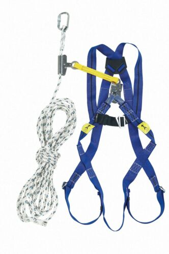 MILLER TITAN Roofers Kit 2 Point Harness /& 10m Rope with Rope Grab