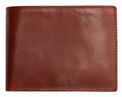Men/'s red strong genuine leather tr-fold wallet no logos or markings